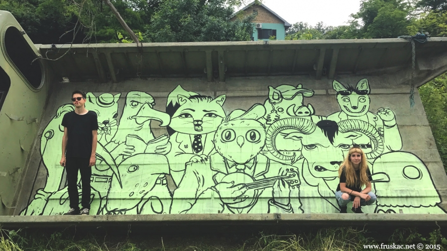 News - First murals painted on Fruška gora